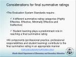 considerations for final summative ratings