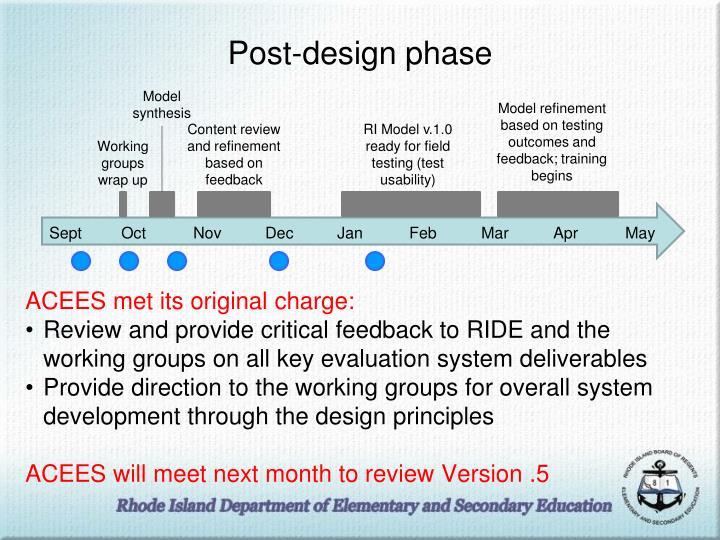 Post-design phase