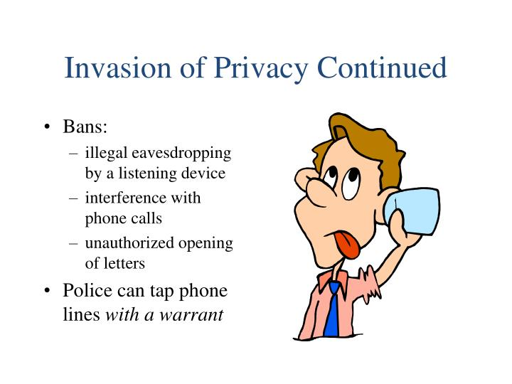 Invasion of Privacy Continued