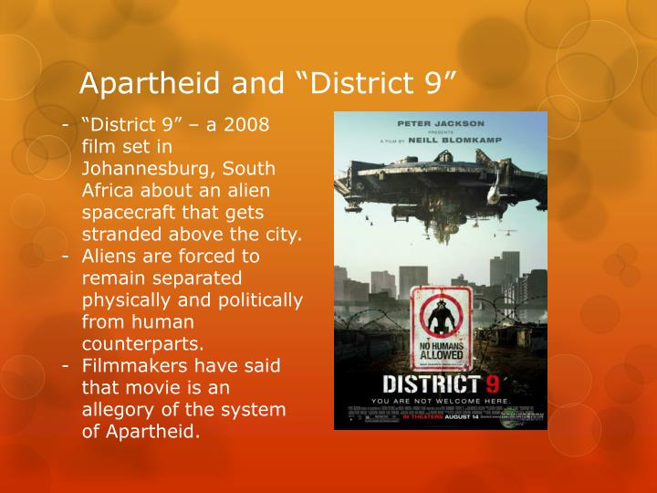 """Apartheid and """"District 9"""""""