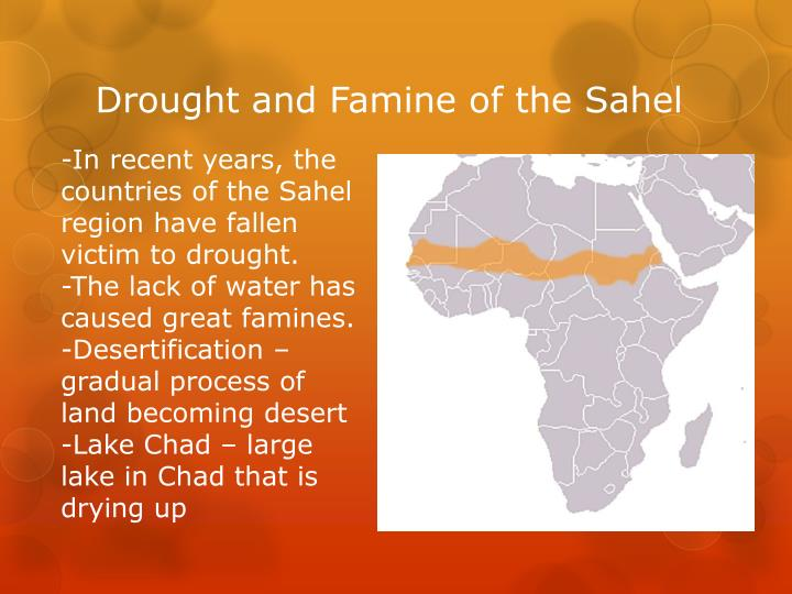 Drought and Famine of the Sahel