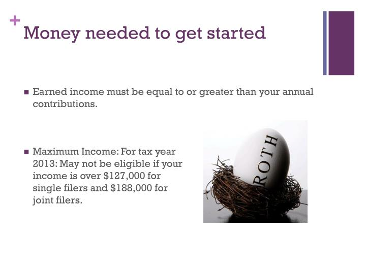 Money needed to get started