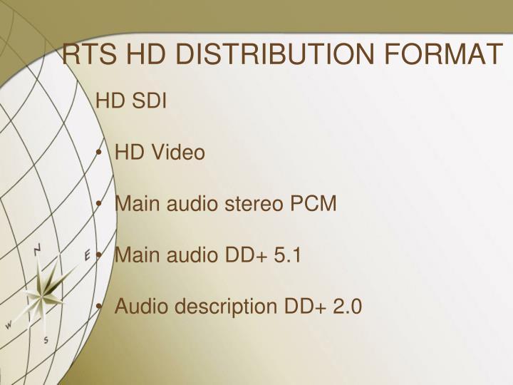 RTS HD DISTRIBUTION FORMAT