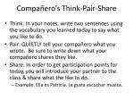 compa ero s think pair share