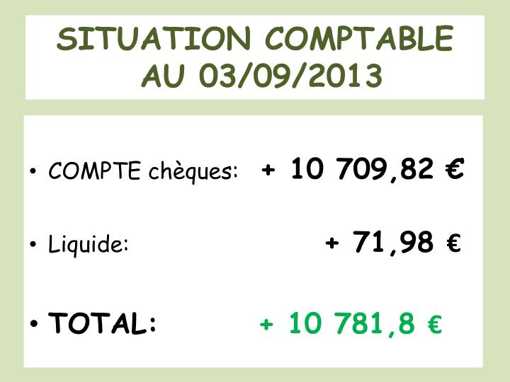 SITUATION COMPTABLE