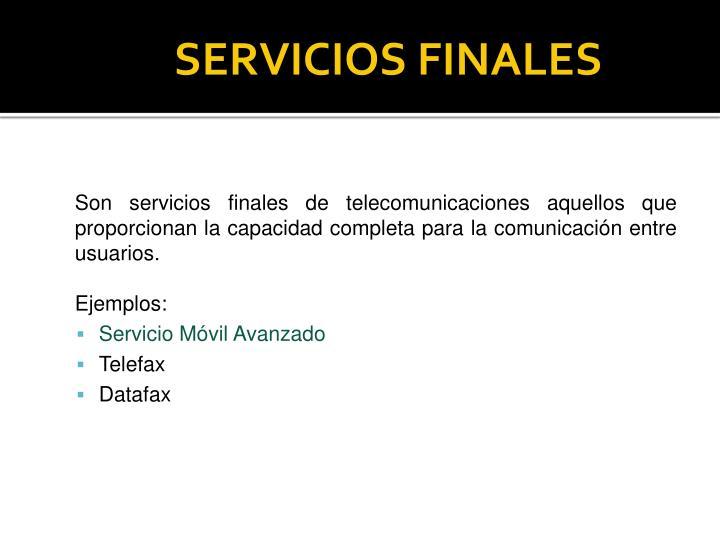 SERVICIOS FINALES