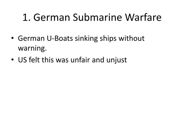 1 german submarine warfare