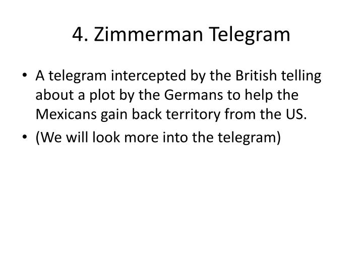 4. Zimmerman Telegram