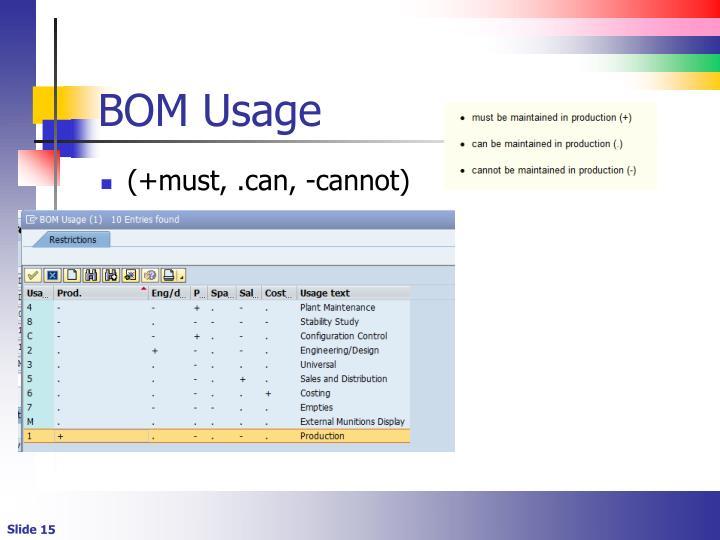 BOM Usage