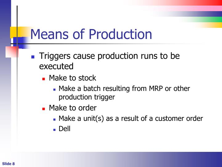 Means of Production