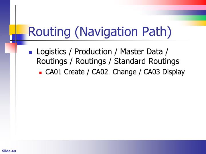 Routing (Navigation Path)