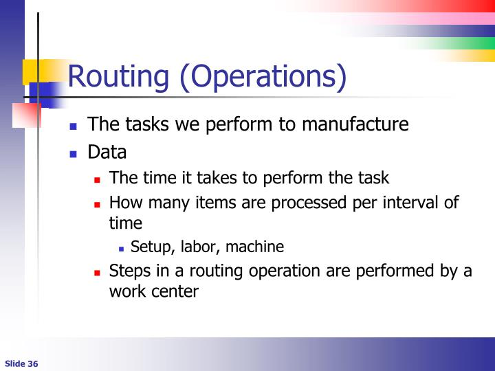 Routing (Operations)
