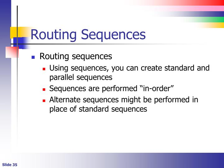 Routing Sequences