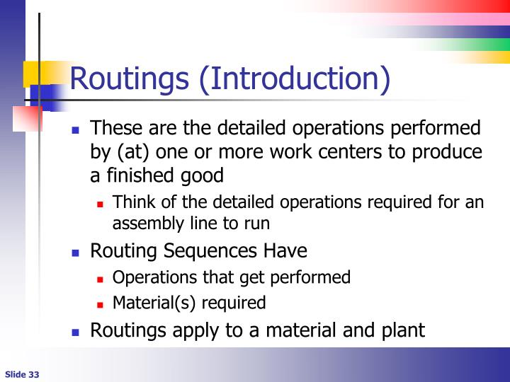Routings (Introduction)