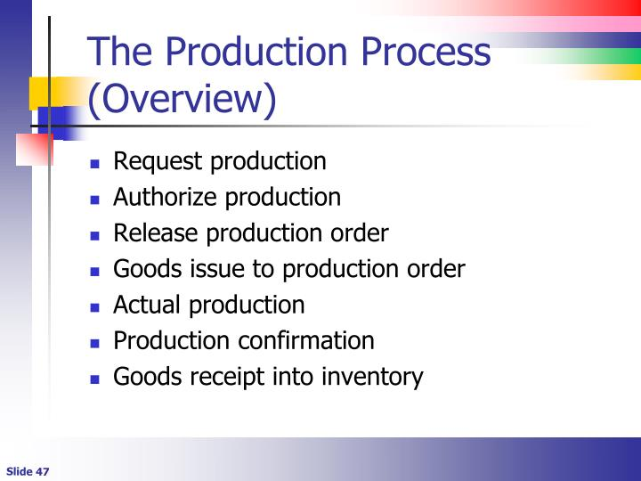 The Production Process (Overview)