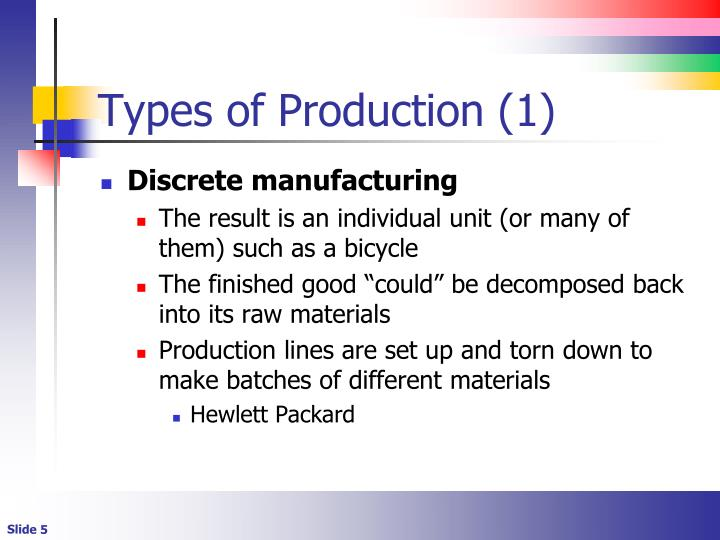 Types of Production (1)