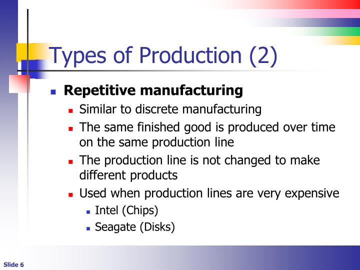 Types of Production (2)