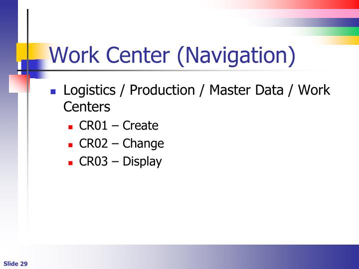 Work Center (Navigation)