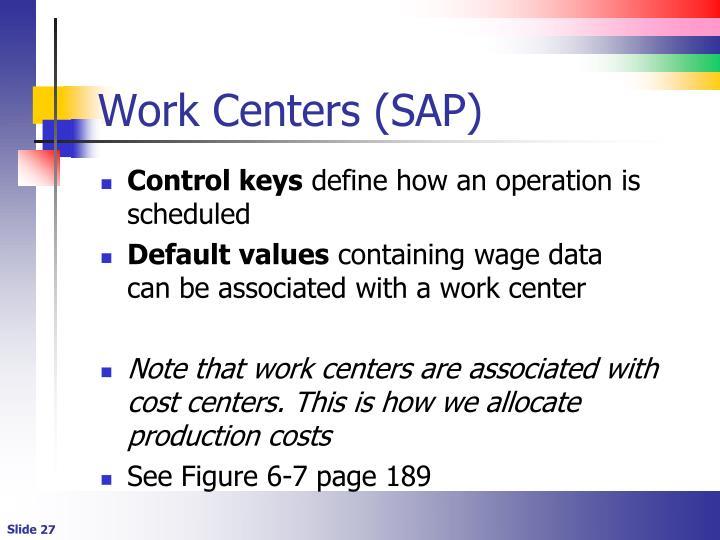 Work Centers (SAP)