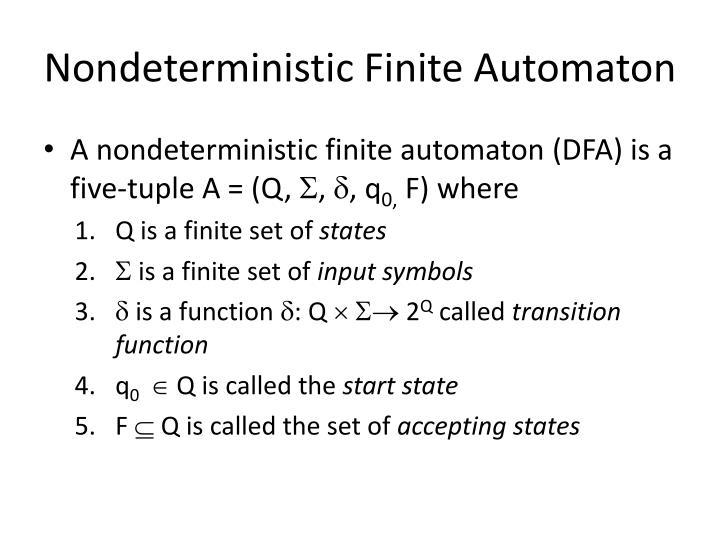 Nondeterministic Finite Automaton