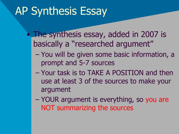 Argument synthesis essay topics