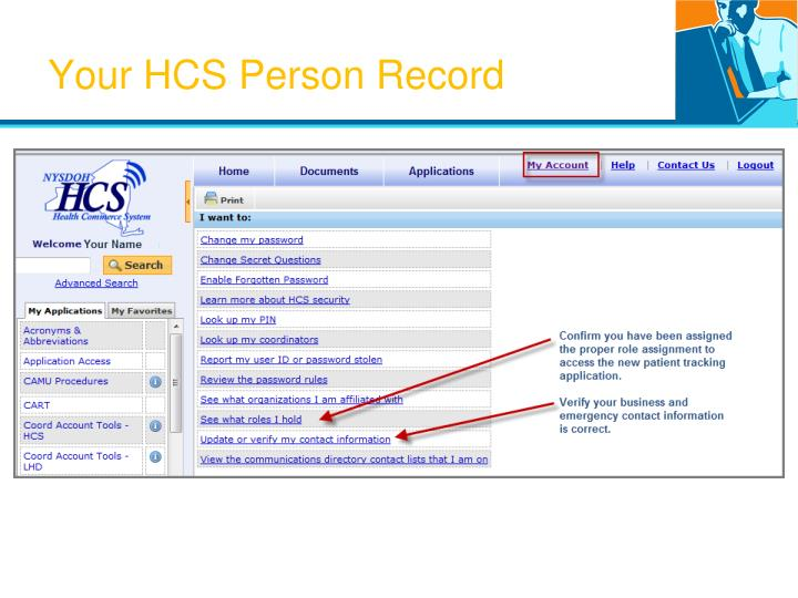 Your HCS Person Record