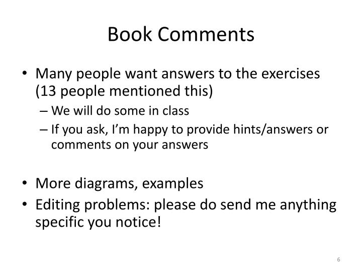 Book Comments