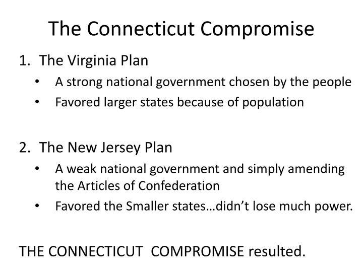 The connecticut compromise