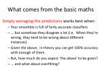 what comes from the basic maths