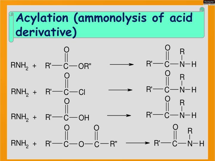 Acylation (ammonolysis of acid derivative)