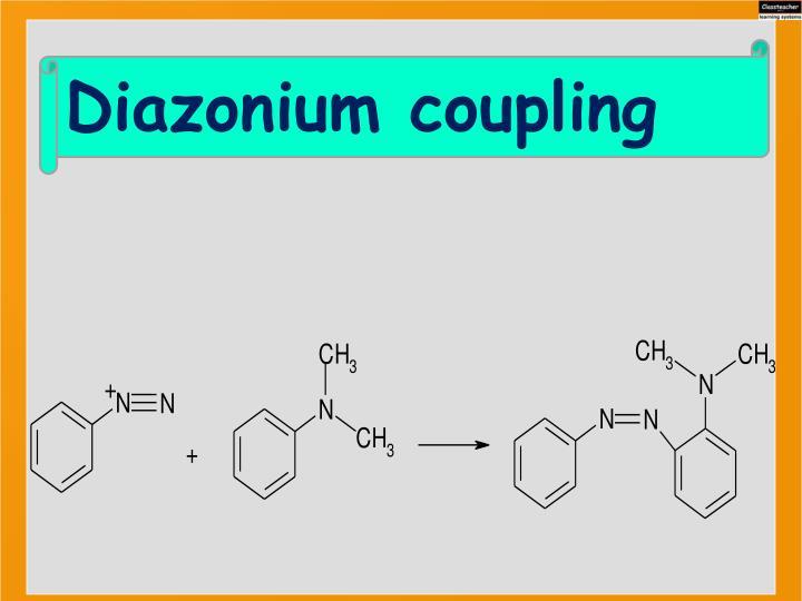 Diazonium coupling