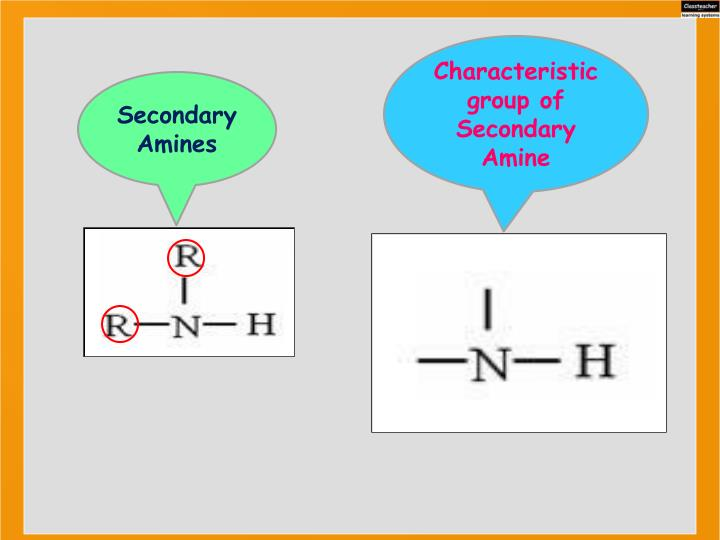 Characteristic group of Secondary Amine