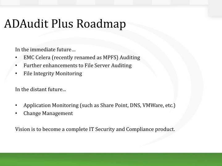 ADAudit Plus Roadmap
