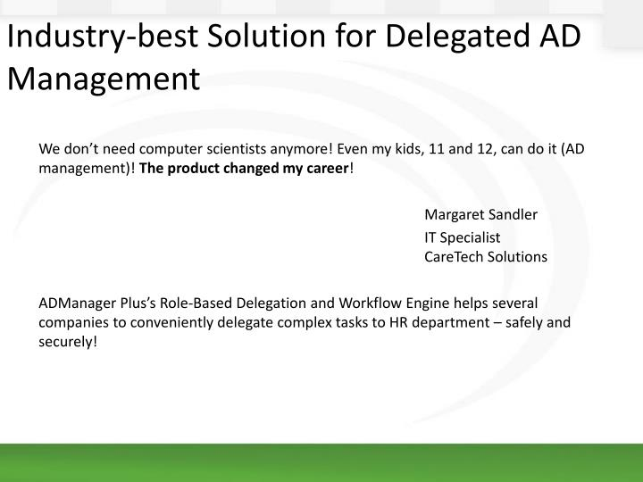 Industry-best Solution for Delegated AD Management