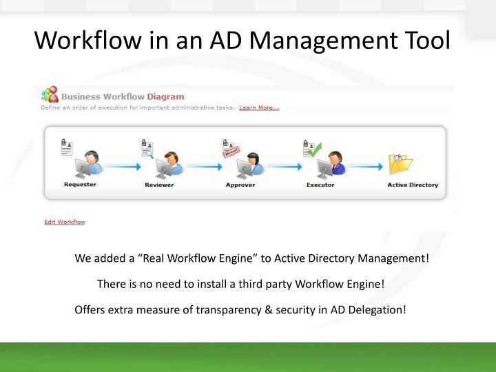 "We added a ""Real Workflow Engine"" to Active Directory Management!"