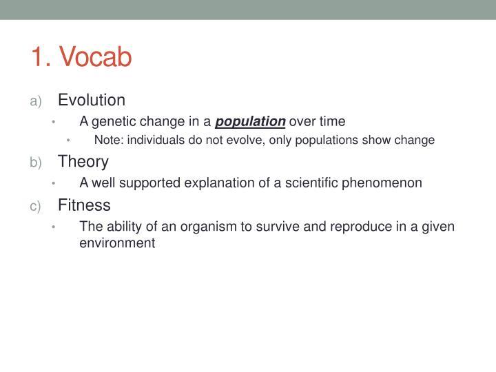 1. Vocab