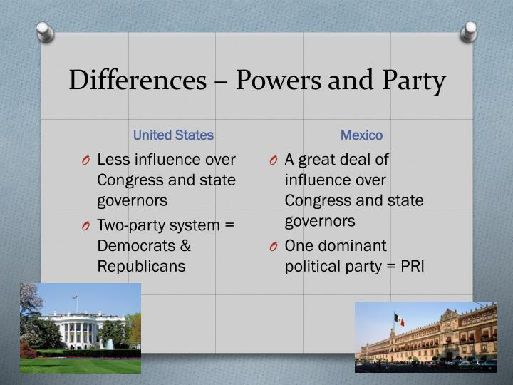 Differences – Powers and Party