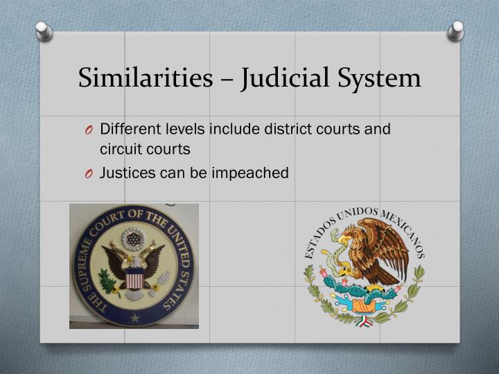 Similarities – Judicial System