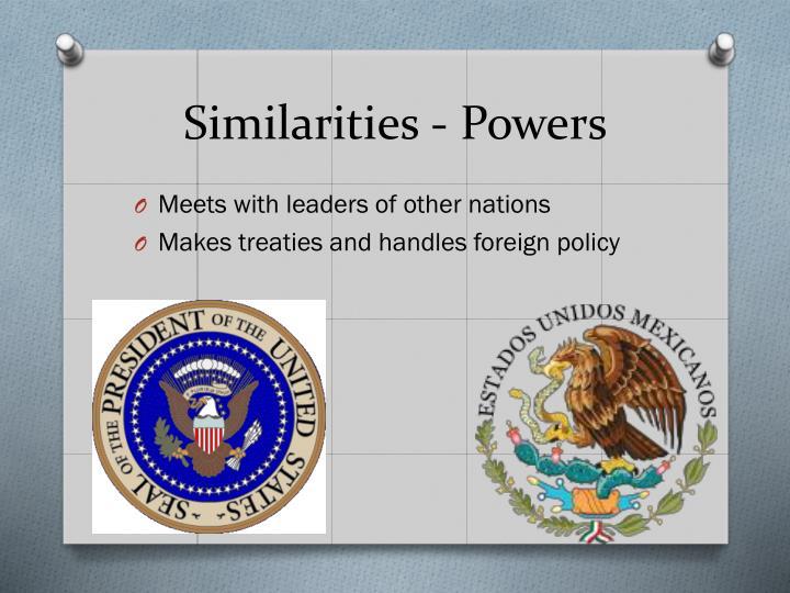 Similarities - Powers