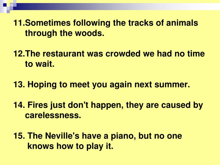11.Sometimes following the tracks of animals