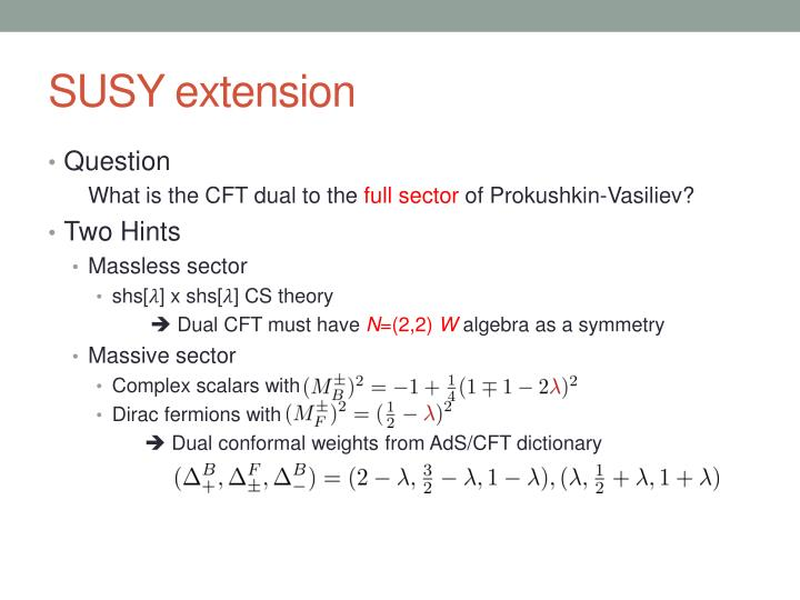 SUSY extension