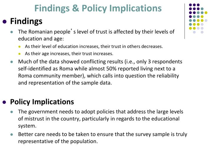 Findings & Policy Implications