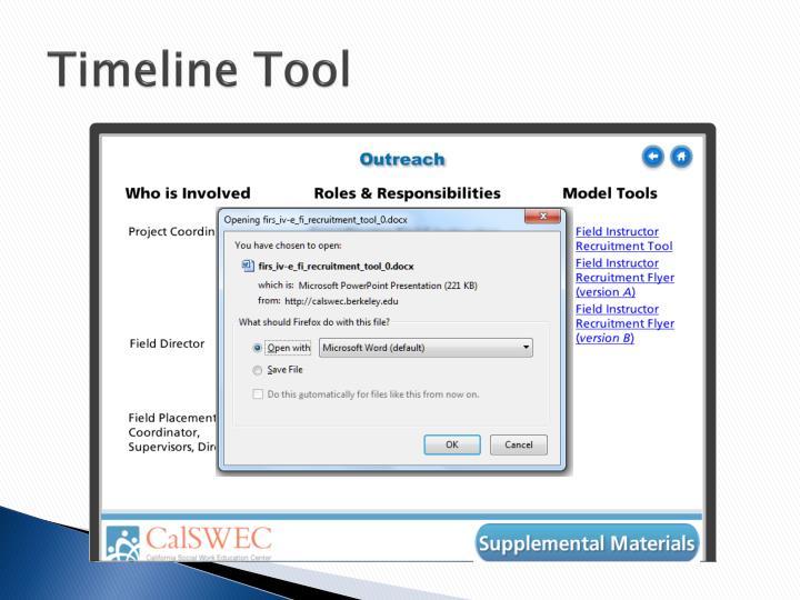 Timeline Tool