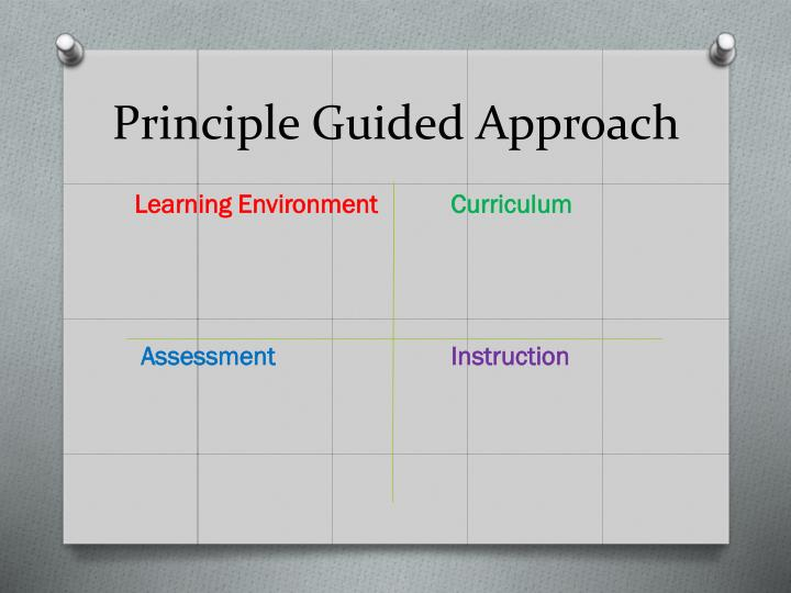 Principle Guided Approach