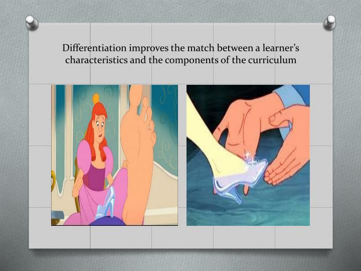 Differentiation improves