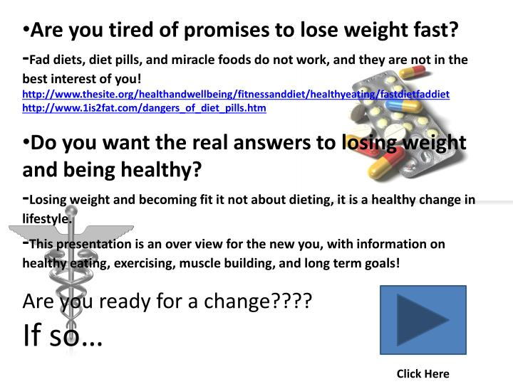 Are you tired of promises to lose weight fast?