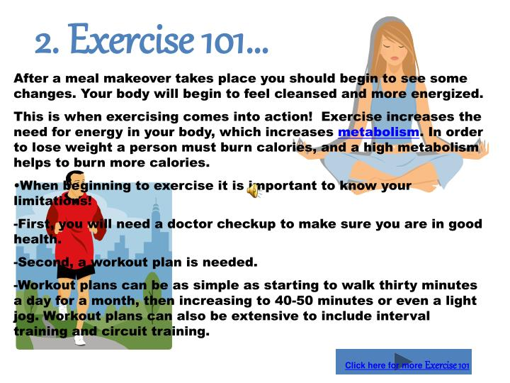 2. Exercise 101…