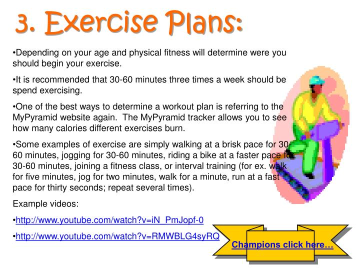 3. Exercise Plans: