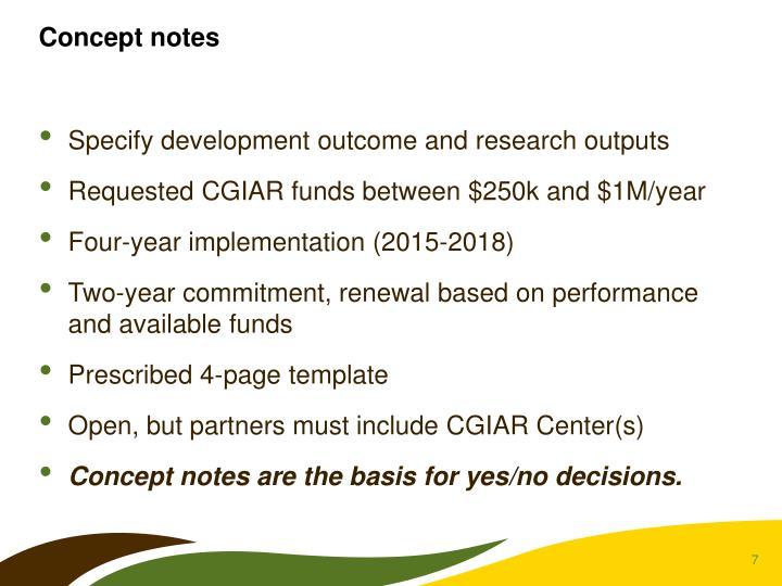 Concept notes