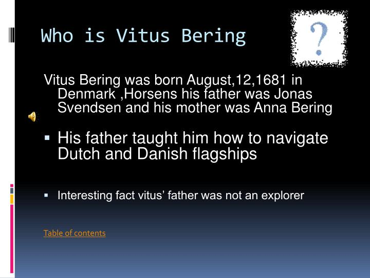 Who is vitus bering